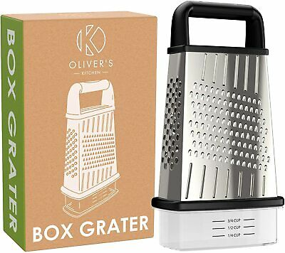🧀 Oliver's Kitchen Cheese Grater 🧀 4-Sided Multi-Purpose Box Grater 🧀 • 9.99£