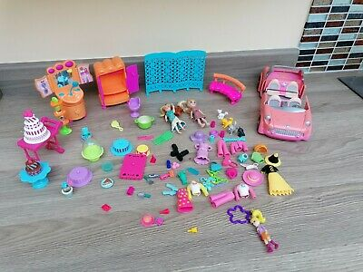 Massive Bundle POLLY Pocket Afternoon Tea Garden Figures Clothing • 14.99£