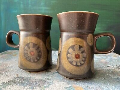 Two 1970's Vintage DENBY ARABESQUE MUGS Excellent Condition • 4£
