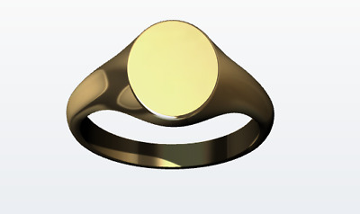 AU250 • Buy Kaedesigns New Size G New 9ct 9K Yellow Gold Oval Signet Ring 9mm X 7mm