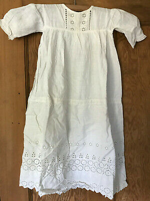 Vintage Victorian/Edwardian Hand-sewn Child's Christening Gown - Some Darning • 10£
