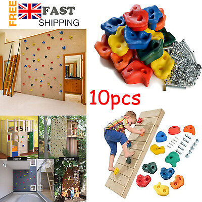 £17.96 • Buy 10X Kids Climbing Holds Grips DIY Rock Stone Wall For Indoor Outdoor Playground