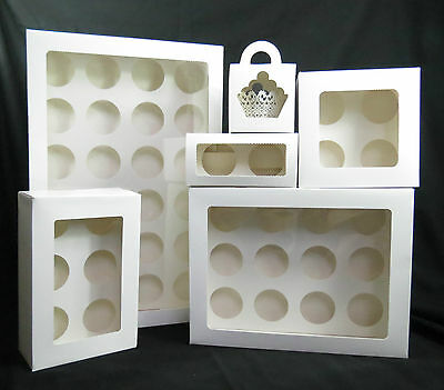 AU12.59 • Buy Cupcake Boxes 1. 2 .4.6. 12 .24 Hole And Mini 12, 24  Window