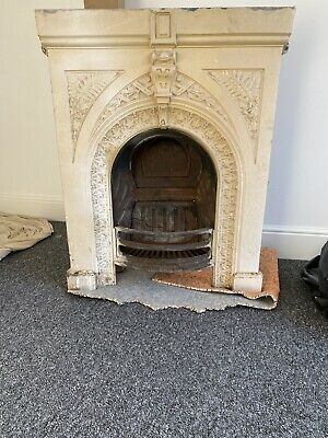 Old Cast Iron Fireplace Victorian? Edwardian ? Fire Place. • 27£