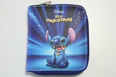 $ CDN17.27 • Buy Lilo And Stitch Disney Blue Wallet Purse Women Girl Faux Leather Coins Cards Zip