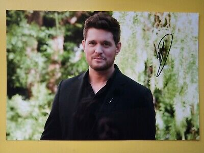 £29.99 • Buy MICHAEL BUBLÉ Hand Signed 12 X 8 Photo Autograph Canadian Singer & Songwriter