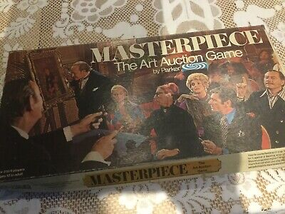 Masterpiece The Art Auction Game 1970 Vintage Game From Parker. • 34.95£
