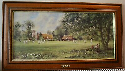 Framed Cricket Art Print On Board - 'In My Day', By Terry Harrison • 18£