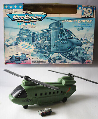 £28.31 • Buy Rare Vintage 1996 Micro Machines Military Battle Zones Assault Copter + Box !