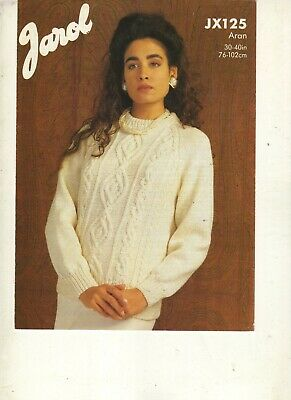Ladies Sweater Knitting Pattern In Aran • 0.80£