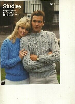 His &  Hers Sweater Knitting Pattern In Aran • 0.80£