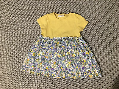 Next Baby Girl 0-3 Months Yellow Floral Dress • 1.40£