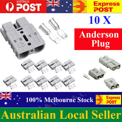 AU14.99 • Buy 10 X Anderson Style Plug Connectors DC Power Tool 50 AMP 12-24V 6AWG AU