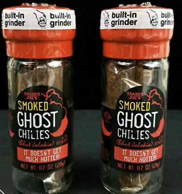 £24.81 • Buy 2 X Trader Joes Smoked Ghost Chiles Bhut Jolokia Pepper Grinder Exp 2023