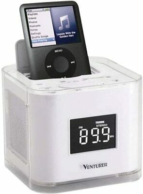 AU31.43 • Buy SLIGHTLY Used VENTURER Dual Alarm Clock Radio, Dock For IPod/iPhone W/warranty