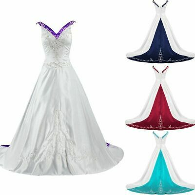 $ CDN170.44 • Buy Vintage Wedding Dresses Embroidery A Line Beaded Plus Bridal Gowns V-Neck Stock