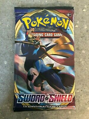 AU7.95 • Buy Pokemon TCG Cards 1x Sword And Shield Base Booster Pack Genuine Factory Sealed