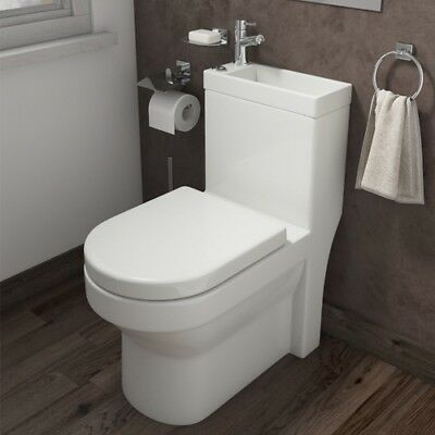 P2 Combination Toilet And Sink Under Stairs Modern Gloss White Bathroom Compact • 257£