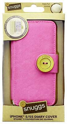 Snuggs Pink IPhone 5 5S Diary Cover Faux Fur Lined Phone Case [IPSN-DY5S] • 10£