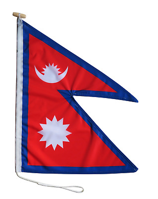 £30 • Buy Nepal Flag (46cm X 60cm) With Rope And Toggle