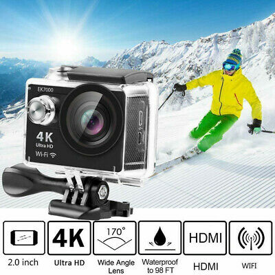 Action Camera Campark 4K/30fps Wifi Sport Waterproof Cam Underwater DV Camcoder • 16.99£