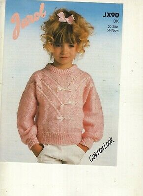 Girls Sweater Knitting Pattern In Dk • 0.80£