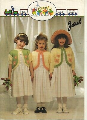Girls Boleros Knitting Pattern In Dk • 0.80£