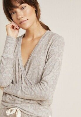 $ CDN111.26 • Buy Anthropologie Sundry Snake Animal Print Pullover Wrap Sweater Lounge Top Small