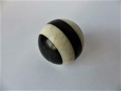 Antique Decorative Marble Ball / Sphere, Black & White Marble Ball, Home Decor • 34.99£