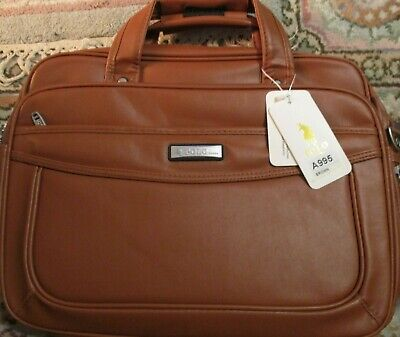 £35 • Buy Leather Laptop Briefcase,POLO VIDENG 16 Inch Water Resistant Business Bag Tan
