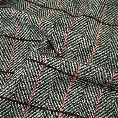£5.50 • Buy Wool Blend Tweed Upholstery Fabric Car Interior Sofa Curtain Chairs 1.5 M Wide
