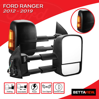 AU339 • Buy Bettaview Towing Mirrors Electric Extendable Ford Ranger Everest 2012-ON Black