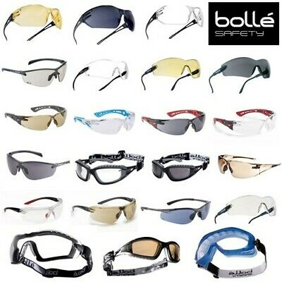 £9.70 • Buy Safety Glasses By Bolle Huge Range Clear, Smoked, Tinted, Over Specs Goggles Etc