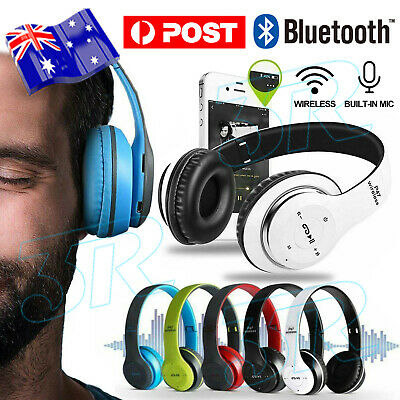 AU12.95 • Buy Wireless Headset Noise Cancelling Headphones Earphone With Mic 4.2 Bluetooth AU