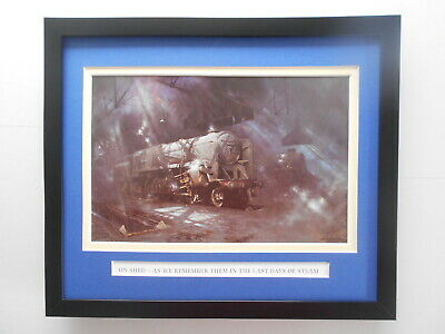 £27.50 • Buy David Shepherd Steam Train Print 'On Shed - As We Remember Them' FRAMED