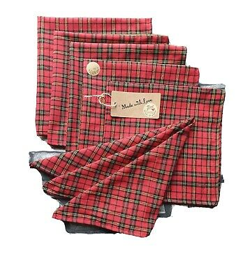 £10 • Buy Christmas Table Napkins ,pack Of 6.polyester Mixed Fabic & Homemade .