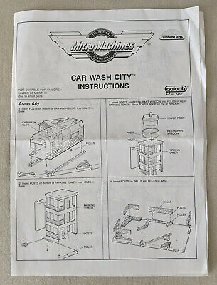 Micro Machines Car Wash City Instruction Manual Galoob  FANTASTIC CONDITION • 4.99£