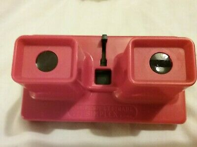Stereoscope Lestrade Simplex Red 1960s Viewer French Vintage Collectable • 5£
