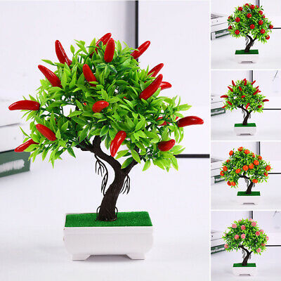 Artificial Potted Plant Fruits Bonsai Flower Tree Wedding Garden Decors Display • 7.81£