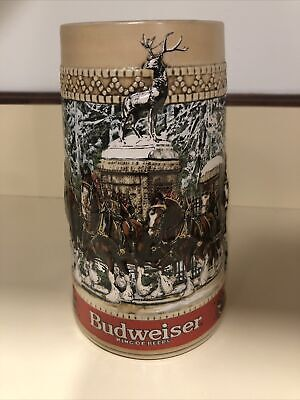 $ CDN16.08 • Buy 1987 Budweiser Clydesdale Collector Holiday Beer Stein  C  Series Anheuser Busch