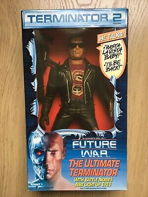 VINTAGE Terminator 2 Electronic Talking Figure With Box (KENNER) 1992 • 40£