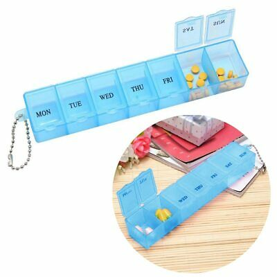 Dispenser Organiser Weekly Storage Weekly Daily 7 Day Pill Box Medicine Tablet • 1.70£