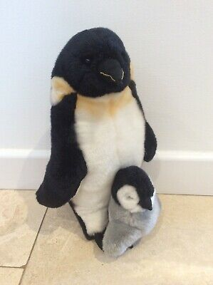 Yomiko Classic Mother & Baby Penguin Soft Toy By Russ Berrie (14 Inches ) • 6£