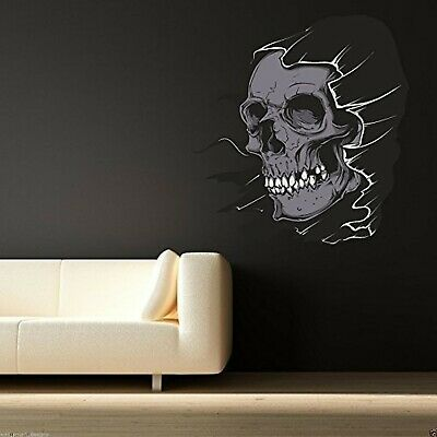 Full Colour Halloween Hooded Skull Wall Art Sticker Bedroom Transfer Decorati... • 37.46£