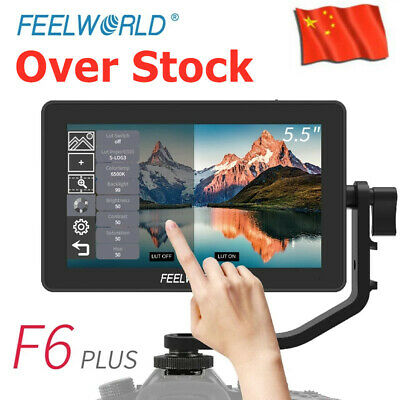 AU201.58 • Buy Feelworld F6 Plus 5.5  IPS Touch Screen 3D Video Camera DSLR Monitor 4K HDMI