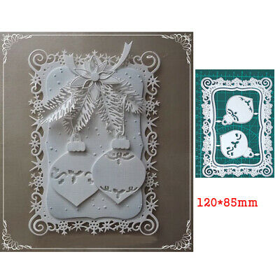 Metal Cutting Dies Lace Frame Christmas Stencil Scrapbooking Embossing Template • 3.34£
