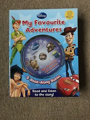 Disney Pixar My Favourite Adventures Disney 5 Read-along Stories Book And CD • 6£