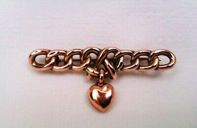 Rare & Beautiful 9ct Rose Gold Victorian Lovers Knot Brooch Circa 1893  • 10.50£