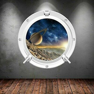 Space Porthole Planets Universe Galaxy Spaceship Wall Art Sticker Decal Mural... • 26.97£