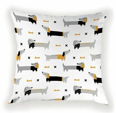 Dachshund Cushion Cover Christmas Design Present Gifts Sausage Dog Gift • 5.99£